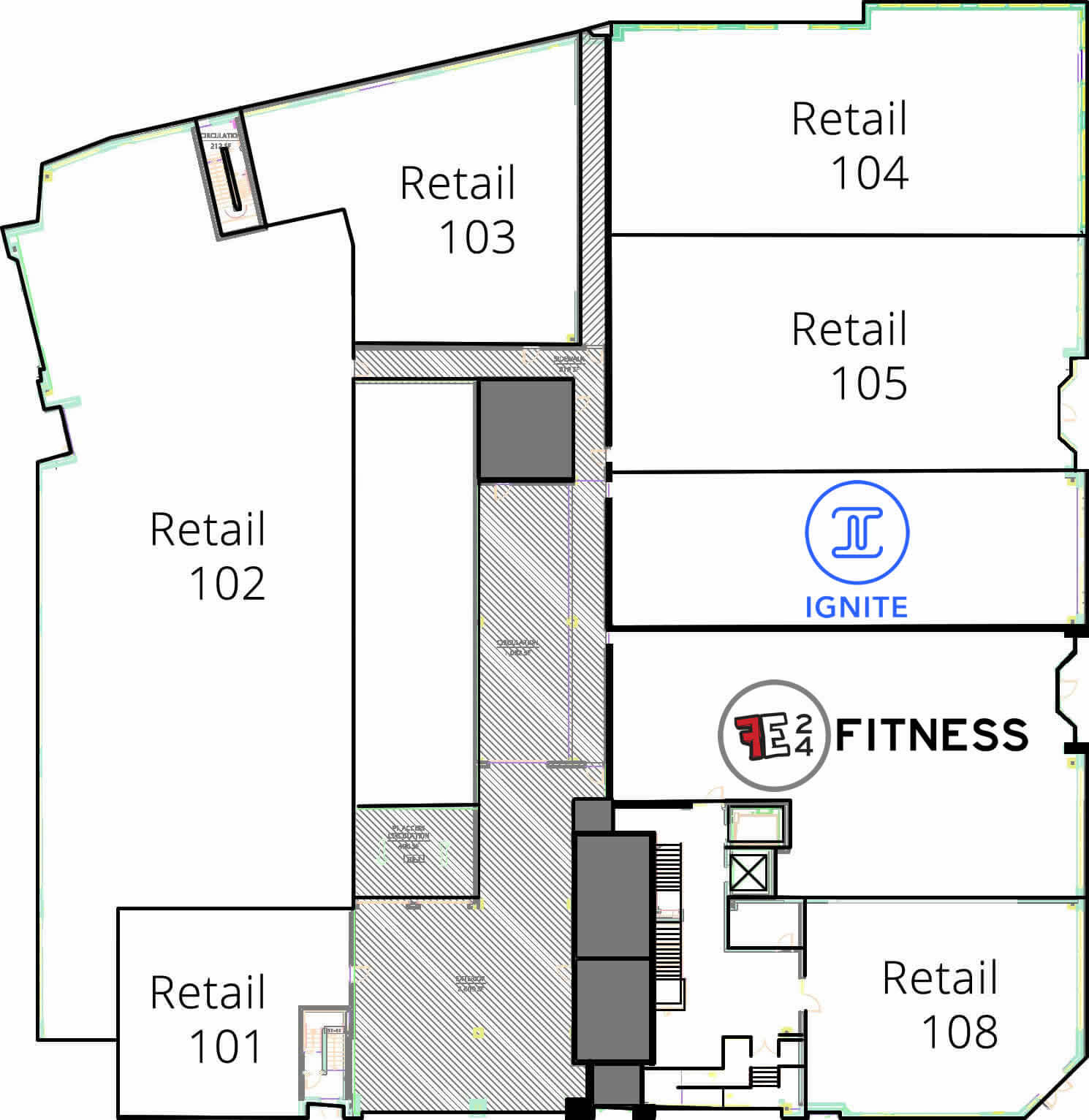 Commercial floor plan haymarket landing for Commercial floor plans